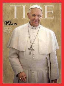 Pope Francis was named the 2013 Person of the Year by Time Magazine. Francis is credited for reforming the Catholic church, eliminating its negative stigmas.
